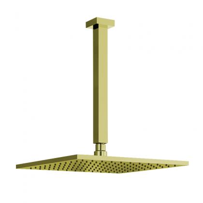 Chuveiro Articulado Teto Metal 30cm Dourado 3100 1/2 DV640 Linha Eros 640 Fani