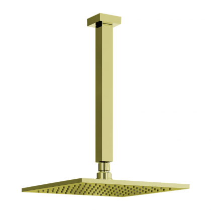 Chuveiro Articulado Teto Metal 30cm Dourado 3100 1/2 DV400 Linha Platina 400 Fani