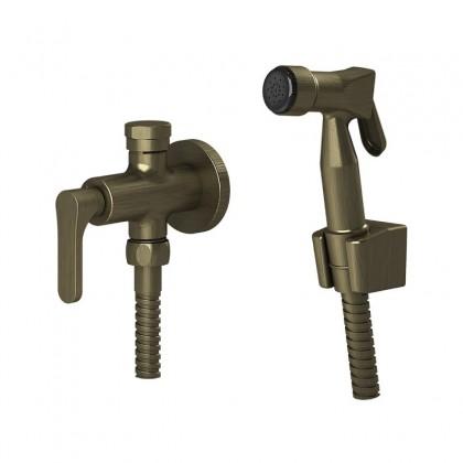 Ducha Higienica Com Derivador Para caixa Acoplada Gatilho ABS Flexivel Ouro Velho 1745 1/2 OV262 Linha Tunis Classica Fani