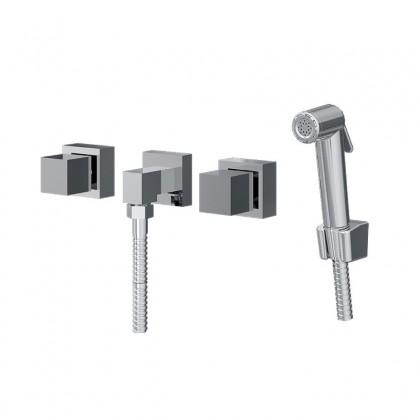 Ducha Higienica Com Misturador Gatilho ABS Flexivel Cromado 1750 C250 Linha Plena 250 Fani