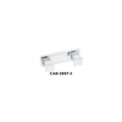 Cabide 29972-1472 158mm em Zamac Escovado Italy Line