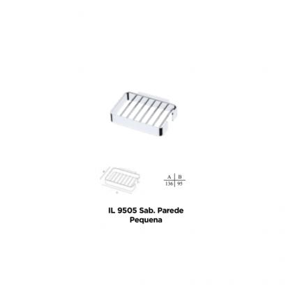Saboneteira de Parede Pequena IL9505-10434 em Latão 136x95 Cromado Italy Line