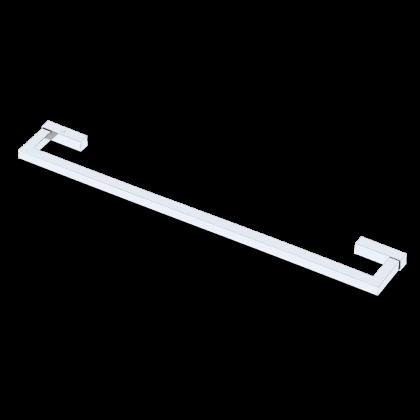 Porta Toalha de 600mm em Latão Cromado Linha Contemporânea 10427 Italy Line