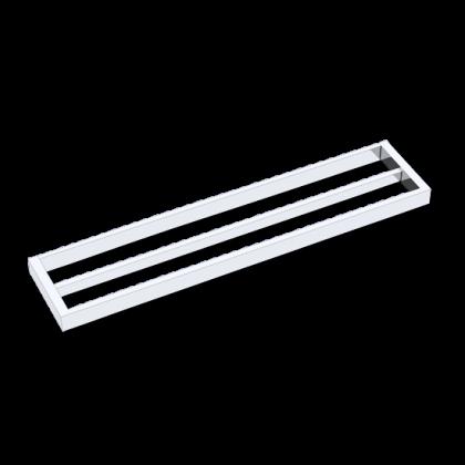 Porta Toalha Duplo de 600mm em Latão Cromado Linha Dalian 13125 Italy Line