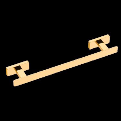 Porta Toalha de 600mm em Latão Dourado Linha Veneza Ouro 12403 Italy Line