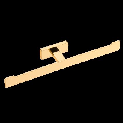 Porta Papel Higienico Duplo em Latão Dourado Linha Veneza Ouro 12409 Italy Line