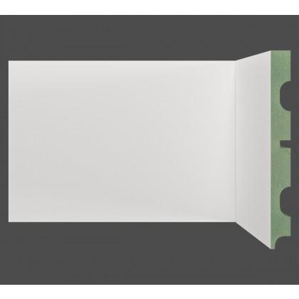 Rodape MDF Branco Sobrepor 15x240x1,8 Moldufama