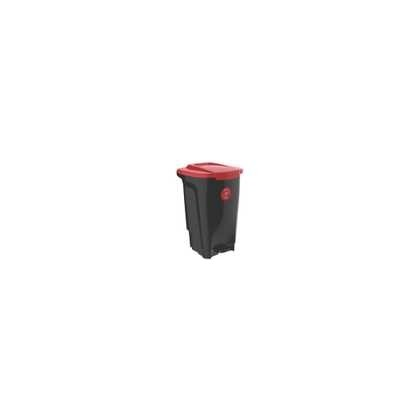 Lixeira T Force Preto e Vermelho 50L 4Un 92813409 Tramontina