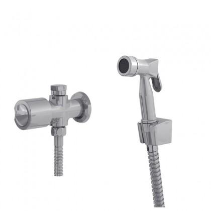 Ducha Higienica Com Derivador Caixa Gatilho Metal Flexivel Cromado 1745 1/2 CC40 Linha Ouro Fino 40 Fani
