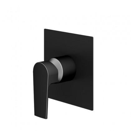 Misturador Monocomando Para Chuveiro Preto Fosco 6416 1/2 x 3/4 BK370 Linha Bold 370 Fani