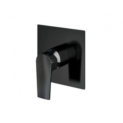 Misturador Monocomando Para Chuveiro Preto Brilhante 1/2 x 3/4 BL370 Linha Bold 370 Fani