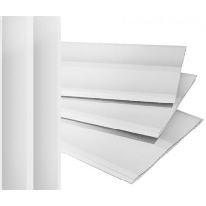 Forro PVC 3D Branco 6x20x008 Regua com 1,20M² Plasforro à Vista
