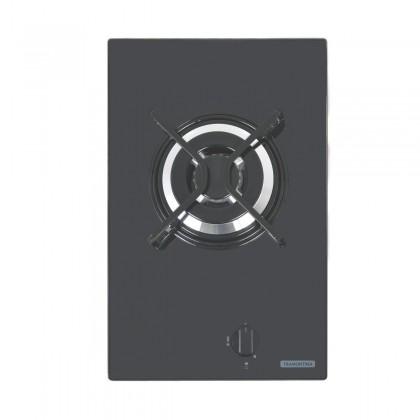 Cooktop a Gás Dominó em Vidro Temperado Preto e Trempes em Aço Carbono com Acendimento Automático 1 Queimador 94702101 T