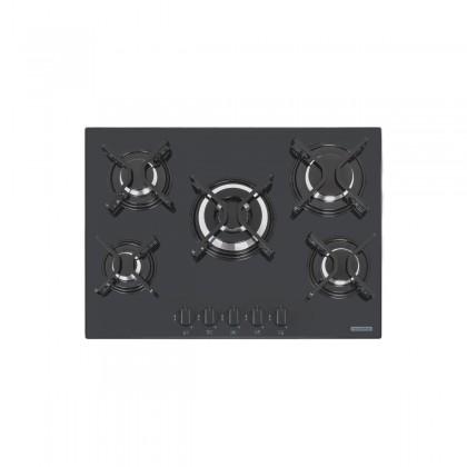 Cooktop a Gás Penta em Vidro Temperado Preto e Trempes em Aço Carbono com Acendimento Automático 5 Queimadores 94708201