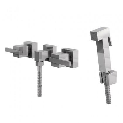 Ducha Higienica Com Misturador Gatilho Metal Flexivel Cromado 1750 C400 Linha Platina 400 Fani