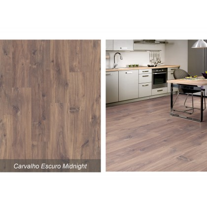 Piso Laminado Smart Carvalho Escuro Midnight - Quick Step - M²