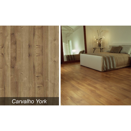 Piso Laminado New Way Carvalho York  - Durafloor - M²