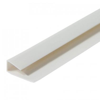 Rodaforro Perfil C PVC Branco Brilho Laminado 6Metros