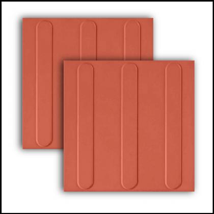 Piso Tatil Direcional Vermelho 20x20cm Ecopisos