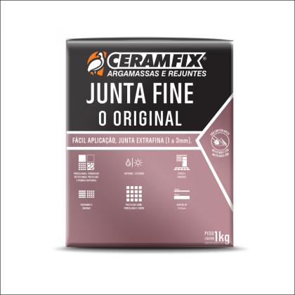 Rejunte Junta Fine 1kg Preto Ceramfix