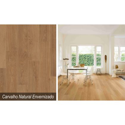 Piso Laminado Smart Carvalho Natural Envernizado - Quick Step - M²