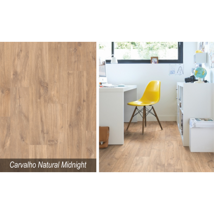 Piso Laminado Smart Carvalho Natural Midnight - Quick Step - M²