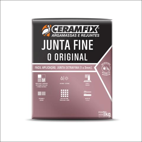 Rejunte Junta Fine 1kg Cinza Ceramfix
